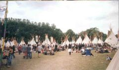 Tipi field in 2000 - a great retreat.