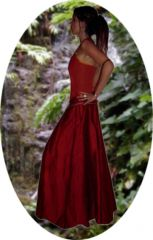 Lotus Moonchild in medieval style skirt with pixie corset