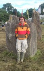 At the stones...