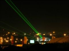 Lasers over the site on Friday night