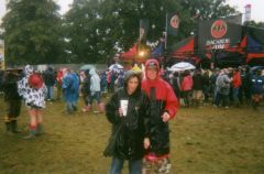 Drenched outside bacardi tent!