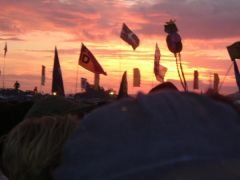 Sunset at Glasto =]