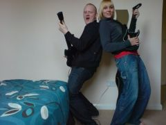 nikki and wigham practising for leeds this year!