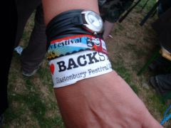 Backstage wristband ;-)