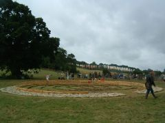 Maze in King's Meadow with 'King' and Stone Circ