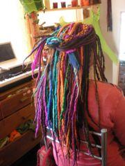 Multi-tonal wool dreads