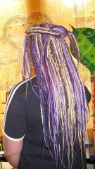 Long synthetic dreads, for wedding