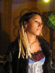 Natural dreads with synthetic permanent extensions