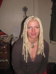 natural dreads with extensions, done in more uneven natural