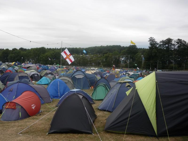 Campsite right outside our information tent