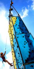 Climing tower at jellyfest