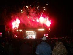 Pinkish Closing Fireworks