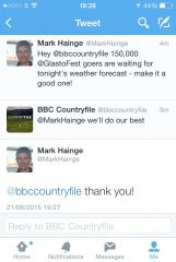 Weather tweet