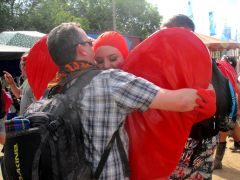 Glastonbury 2015 Hug a heart