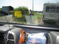 First entry into the outer fields, beyond the camping areas