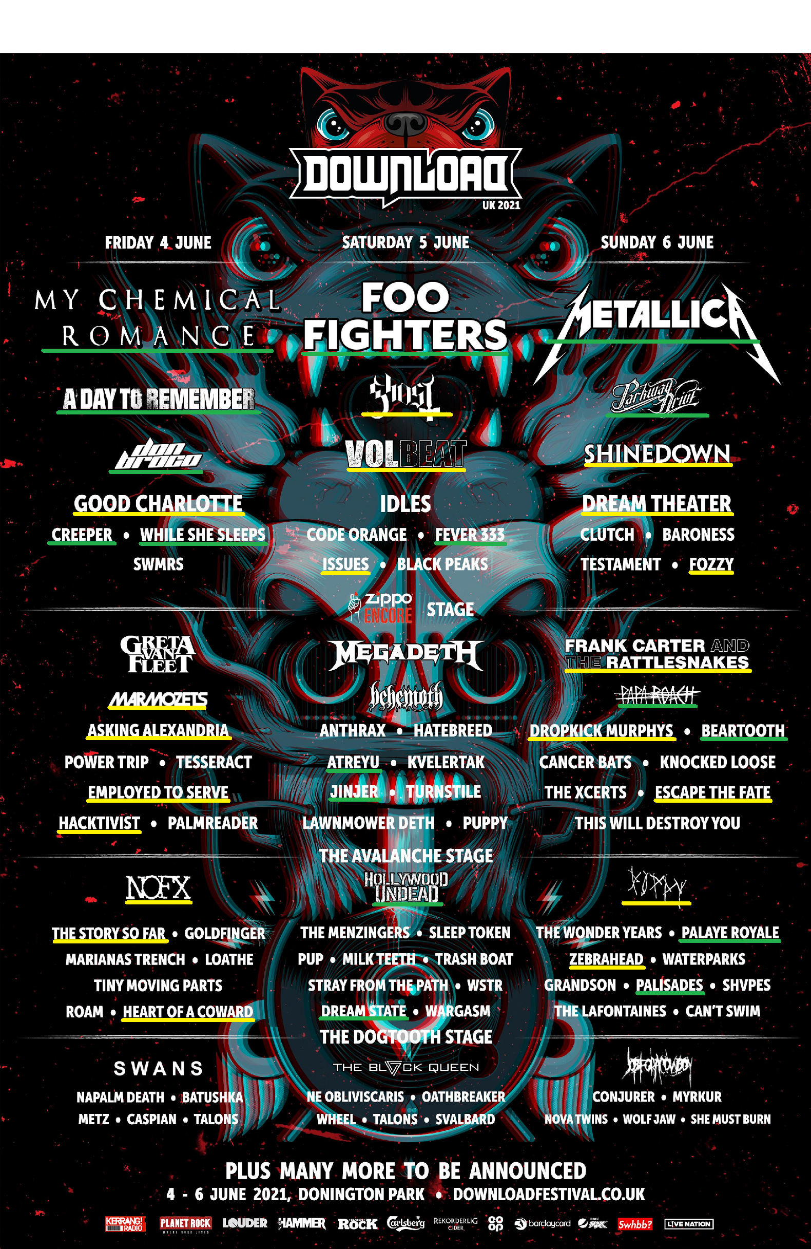 28+ Download Festival 2020 Lineup Background