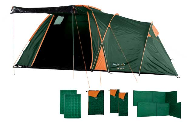 Regatta 4 Person Starter Sets  sc 1 st  eFestivals & Win Argos Goodies!! one of four tent sets with camping gear or a ...