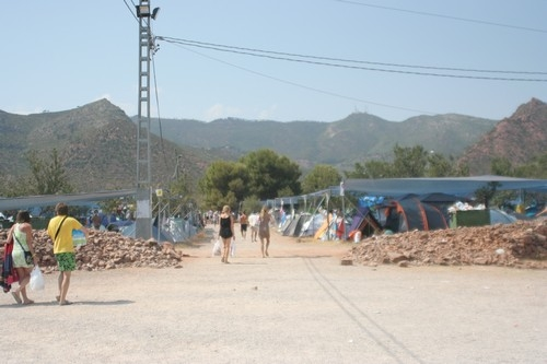 one of the festival campsites