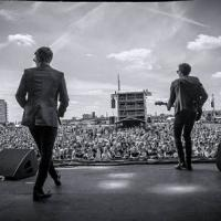 on stage at Hard Rock Calling
