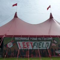 around the festival site (Leftfield)