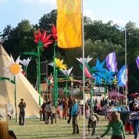 around the festival site