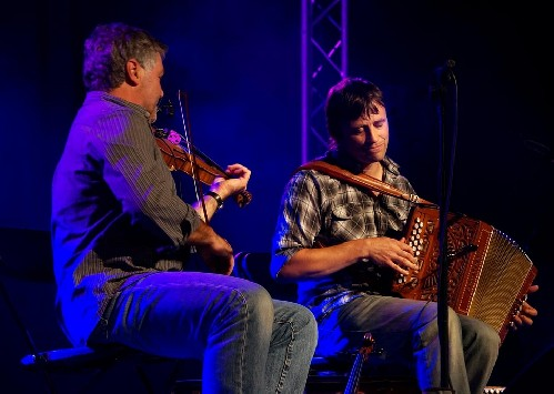 Chris Wood and Andy Cutting @ Sidmouth Folk Week 2014