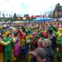 around the festival site (fancy dress competition)