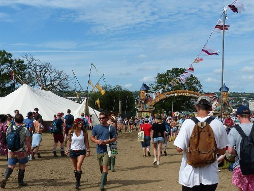 around the festival site (Bimble Inn)