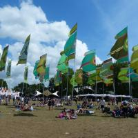 around the festival site (Glade)