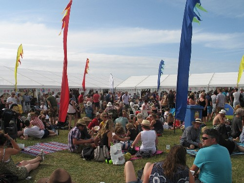 around the festival site & Sark